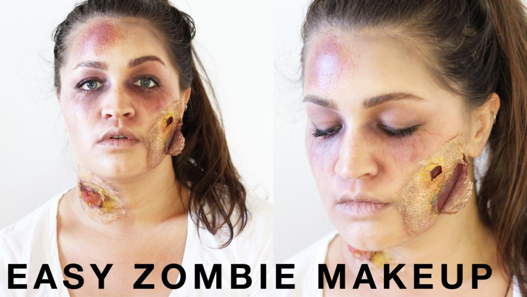 halloween zombie makeup tutorial- last minute halloween makeup
