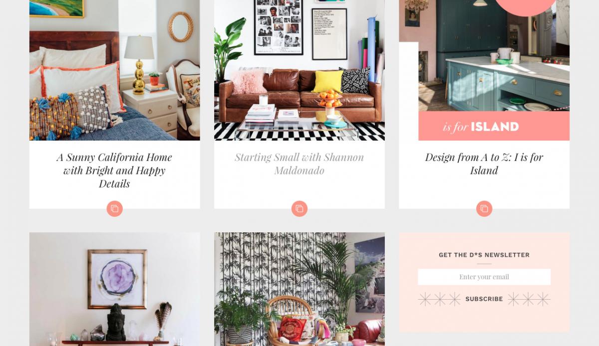 Design sponge interior diy blog taylor made for Best diy interior design blogs