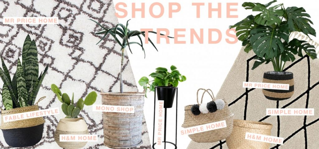 Shop homeware trends - south africa - belly basket, beni ourain rug dupe,planters
