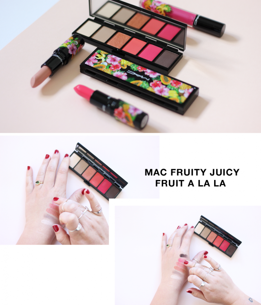 MAC Fruity Juicy Collection swatches - south africa - fruit a la la eyeshadow palette
